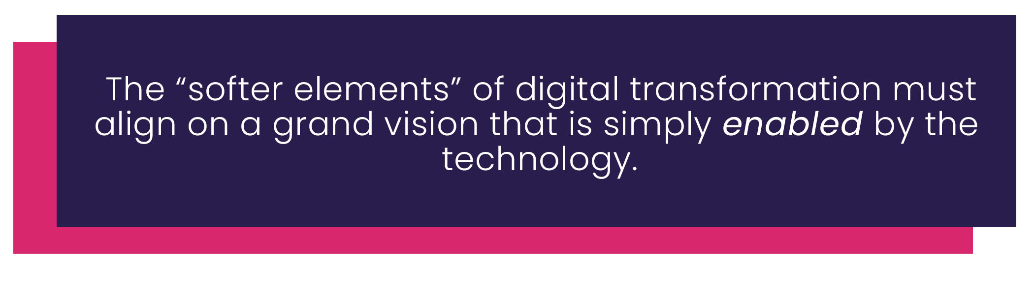 Align your marketing organization on transformation
