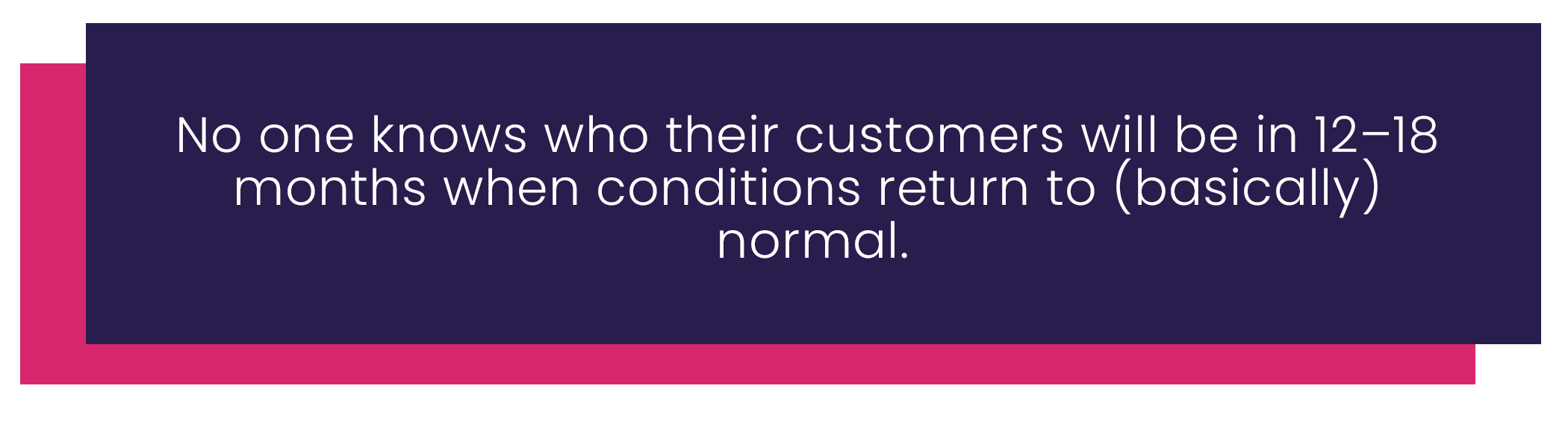 Customer retention after COVID