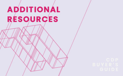CDP Buyer's Guide Chapter 11 – Additional Resources